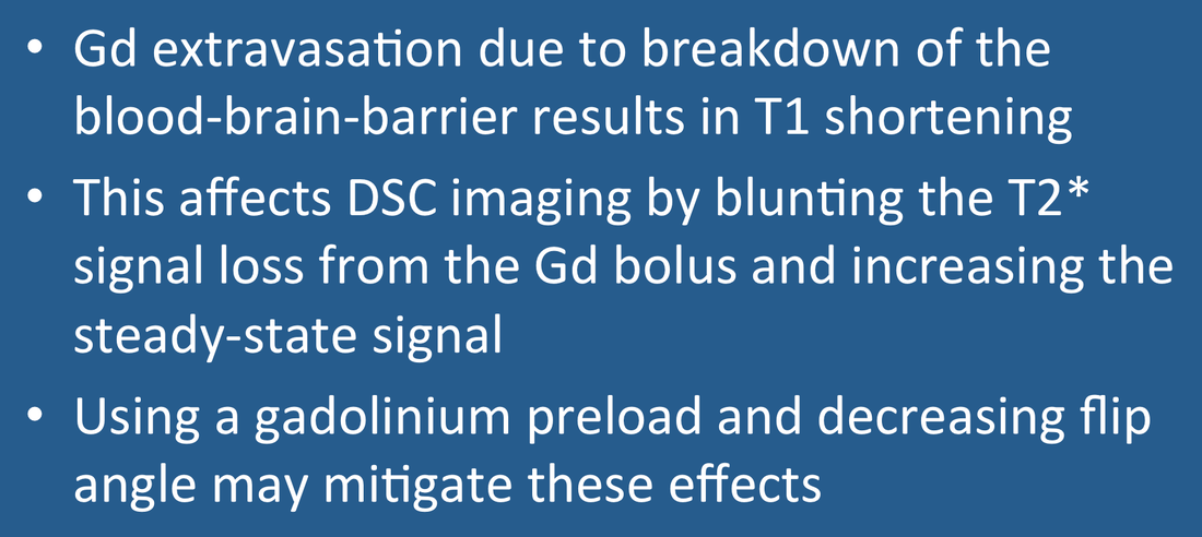 T1 effects of gadolinium on DSC imaging