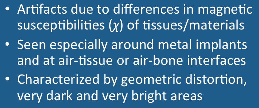 Susceptibility artifact , Questions and Answers in MRI