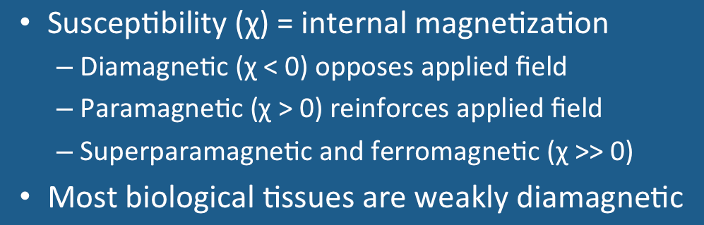 Magnetic susceptibility (χ) - Questions and Answers in MRI